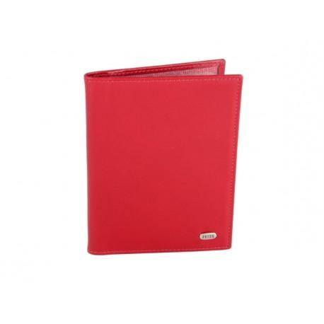 Обложка для документов кожа Petek 584-4000-10 красный гладкий