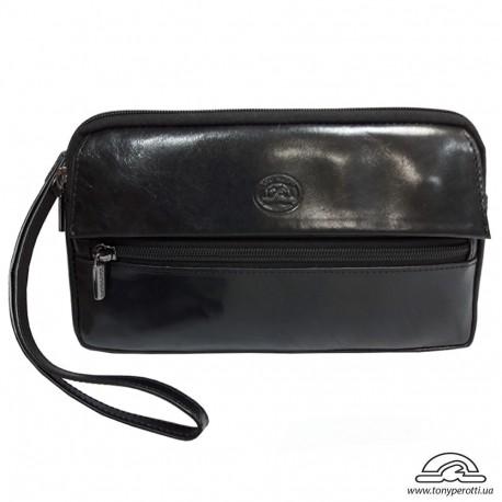 Барсетка кистевая кожа мягкая TONY PEROTTI 9405-10 черный