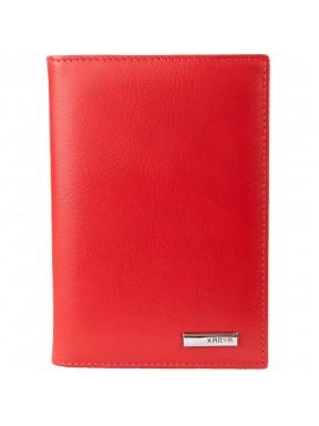 Обложка для авто+паспорт кожаная KARYA 433-46 красный флотар