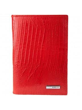 Обложка для авто+паспорт кожа KARYA 433-074 красный лазер