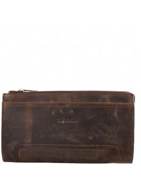 Барсетка кистевая кожа Tony Bellucci 890-06 коричневый нубук