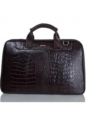 Портфель кожа Desisan 7007-19 коричневый кроко