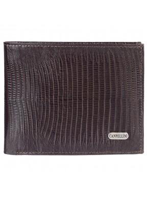 Портмоне кожаное CANPEL 1043-143 коричневый лазер