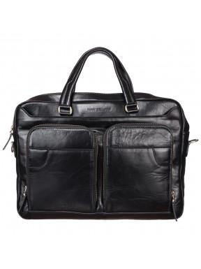 Портфель кожа Tony Bellucci 5048-101 черный гладкий