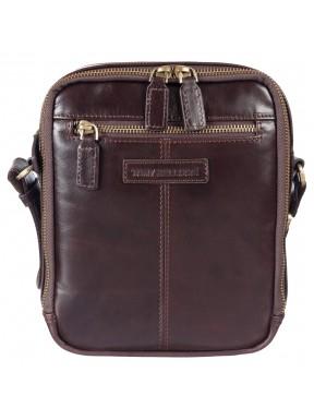 Барсетка мягкая Tony Bellucci 5153-09 коричневый гладкий