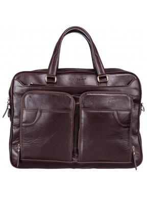 Портфель кожа Tony Bellucci 5048-09 коричневый гладкий