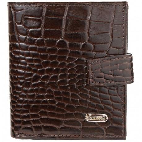 Портмоне кожа CANPEL 1109-11 коричневый кроко