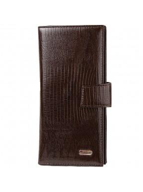 Портмоне кожаное CANPEL 1419-143 коричневый лазер
