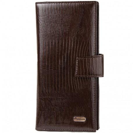 Портмоне кожа CANPEL 1419-143 коричневый лазер
