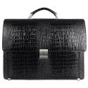Портфель кожаный Desisan 319-11 черный кроко