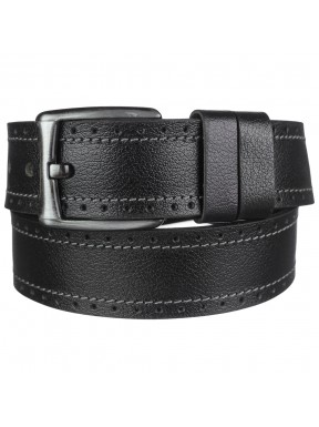 Ремень кожаный Y.S.K. джинсовый 5 см 725-1 черн