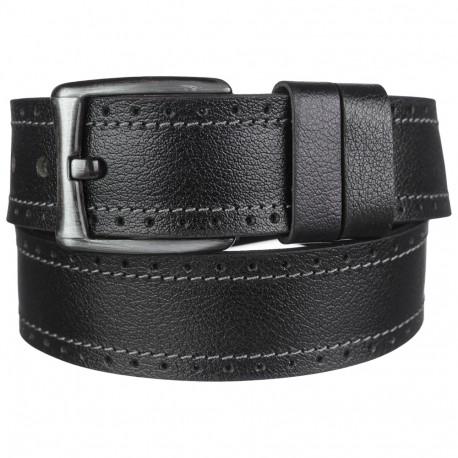 Ремень кожаный  Y.S.K. джинсы 5 см 725-1 черн