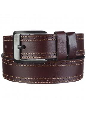Ремень кожаный Y.S.K. джинсовый 5 см 726-2 корич