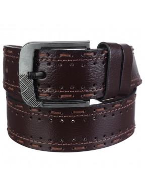 Ремень кожаный Y.S.K. джинсы 5 см 933-2 коричневый