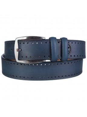 Ремень кожаный Y.S.K. классика 4085-99 синий