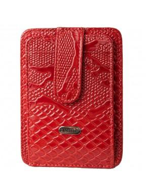 Кредитница кожа CANPEL 091-323 красный узор