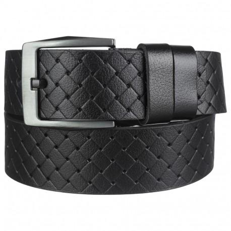 Ремень кожаный Y.S.K. джинсы 5 см 2111-1 черный