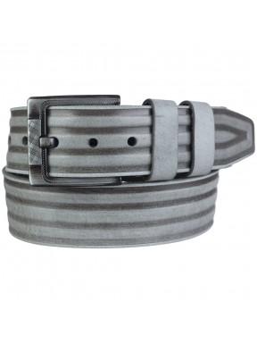 Ремень кожаный Y.S.K. джинсы 5 см 3017-10AM серый