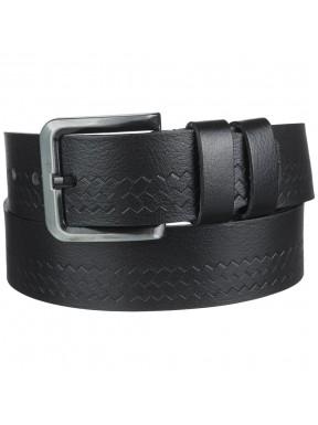 Ремень кожаный Y.S.K. джинсы 5 см 3091-1 черный