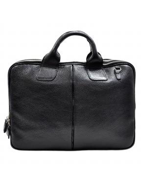 Портфель кожаный Desisan 052-011 черный флотар