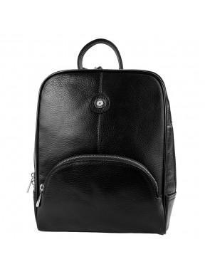 Рюкзак кожа KARYA 0782-45 черный флотар