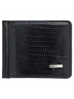 Зажим кожаный BOND 554-902 черный лазер