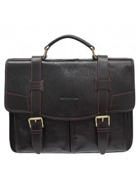 Портфель кожаный Tony Bellucci 5123-886 коричневый флотар