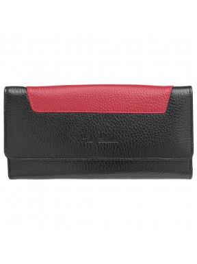 Кошелек женский кожаный Tony Bellucci T885-281-282 черно-красный