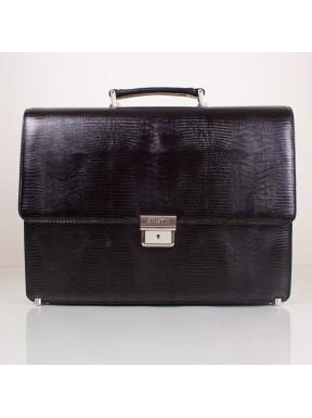 Портфель кожа KARYA 0611-076 черный лазер