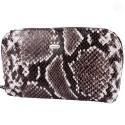 Косметичка кожаная CANPEL 205-129 серая змея