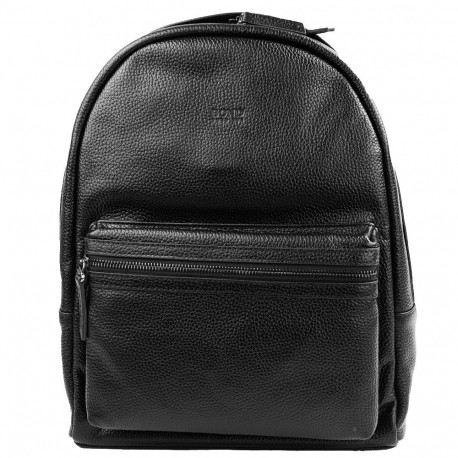 Рюкзак кожаный BOND 1097-281 черный флотар