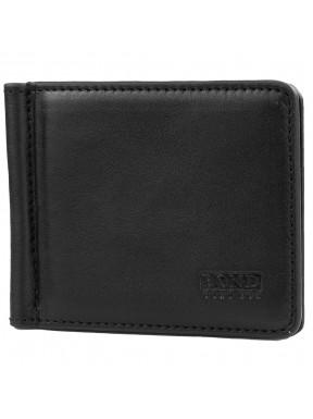 Зажим кожаный BOND 554-101 черный гладкий