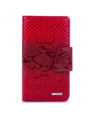 Визитница  кожа KARYA 008-019 красный узор