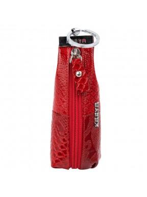 Ключница кожа KARYA 446-019 красный узор