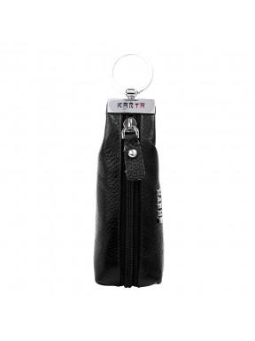 Ключница кожа KARYA 446-45 черный флотар