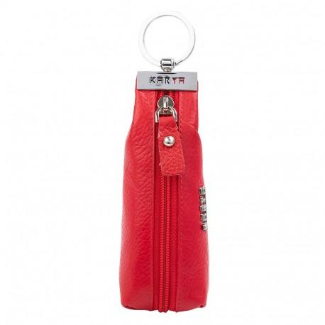 Ключница кожа KARYA 446-46 красный флотар