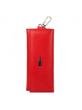 Ключница кожаная Desisan 952-4 красный флотар
