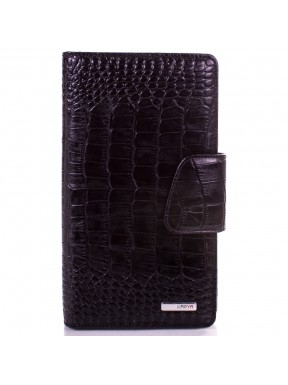 Визитница  кожа KARYA 008-53 черный кроко