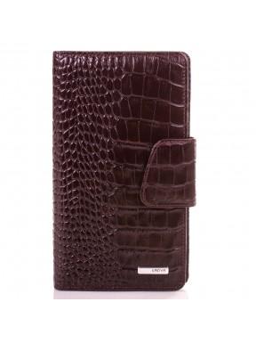 Визитница  кожа KARYA 008-57 коричневый кроко