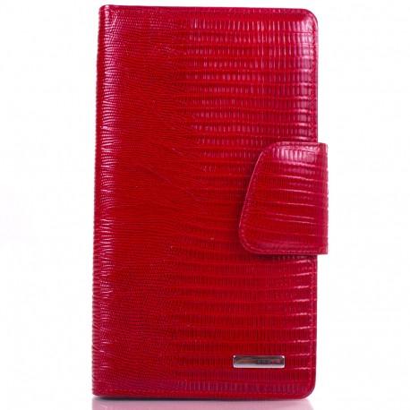 Визитница  кожа KARYA 008-074 красный лазер