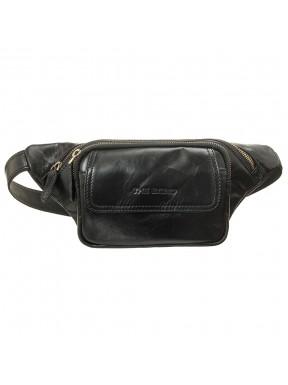 Бананка-поясная сумка кожаная Tony Bellucci 1403-101 черная