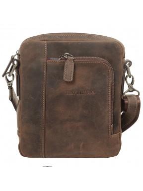 Барсетка мягкая Tony Bellucci 5154-06 коричневый нубук