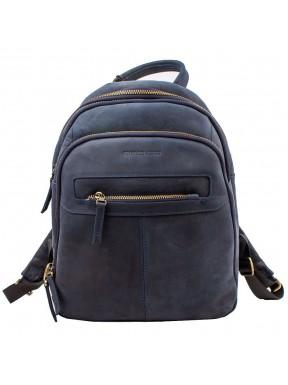 Рюкзак кожаный TONY BELLUCCI 5116-03 синий нубук