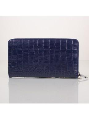 Клатч мужской кожаный KARYA 0704-58 синий кроко