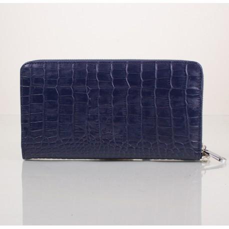 Клатч  мужской кожа KARYA 0704-58 синий кроко