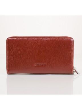 Клатч мужской кожаный KARYA 0706-9 рыжий флотар