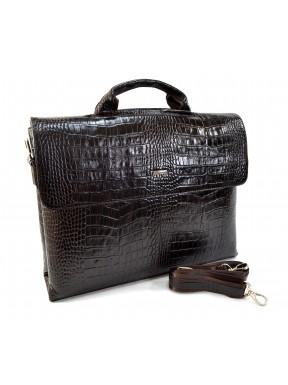 Портфель кожа Desisan 1312-19 коричневый кроко