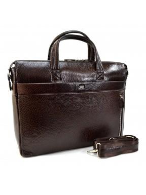 Портфель кожа Desisan 1335-019 коричневый флотар