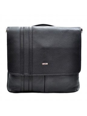 Портфель кожа Desisan 1337-01 черный мелкий флотар