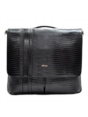 Портфель кожа Desisan 1337-143 черный лазер